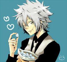 KHR - Byakuran eating marshmallow