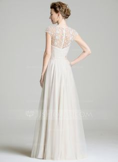 A-Line/Princess Scoop Neck Floor-Length Chiffon Mother of the Bride Dress With Ruffle Beading Appliques Lace Sequins (008072702)