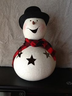 painted snowman gourds - Google Search