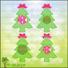 It Christmas Tree Monogram Base Digital by MyLittleMonkeysGifts