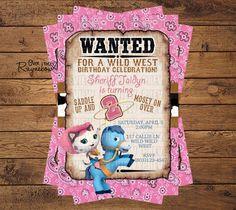 Sheriff Callie Invitation for Girl/Boy by RaynebowShoppe on Etsy Sheriff Callie Birthday, Cowgirl Birthday, Cowgirl Party, 3rd Birthday Parties, Birthday Fun, Birthday Ideas, Birthday Cake, Wild West Party, Hello Kitty Birthday