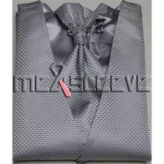 hot sale dress/Bridal Tuxedos man's silver small dot waistcoat 4pcs(vest+ascot tie+cufflinks+handkerchief)