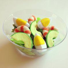 Pretend Felt food How to make Avocado shrimp salad