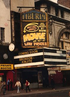 Low prices at the Liberty; the facade was on the more desirable 42nd Street, its 100 foot-long lobby leading to the actual auditorium, which lay on 41st