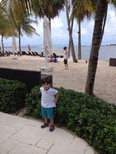 En Miami disfrutando de una mañana de paseo por Brickell Key