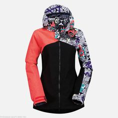 Giacca snowboard donna Volcom Flint colore Leo
