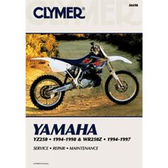 Clymer Yamaha YZ250 (1994-1998) & WR250Z (1994-1997). Yamaha YZ250 1994-1998 and WR250Z 1994-1997Clymer motorcycle repair manuals are written specifically for the do-it-yourself enthusiast. From basic maintenance to troubleshooting to complete overhaul, Clymer manuals provide the information you need. The most important tool in your tool box may be your Clymer manual, get one today.Models Covered YZ250 (1994-1998) WR250Z (1994-1997)  Clymer Yamaha YZ250 (1994-1998) & WR250Z…