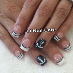 JJ Nail Care - San Jose, CA, United States. Anchor nail design.