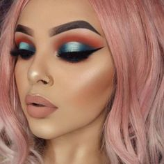 Now doesn't that remind you of a beautiful sunset over the ocean? #cutcrease #eyemakeup #browneyes #eyeshadow