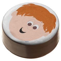 Red Headed Brown Eyed Little Boys Face Chocolate Dipped Oreo CHECK OUT ALL THE DIFFERENT KAPSKIDS FACES ON ZAZZLE