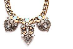 j crew inspired pastel statement necklace