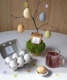 The idea for this product came to me as I was hand coloring some eggs using green tea. TEAG arehand carved eggshell tea diffusers filled with artisan&nbs