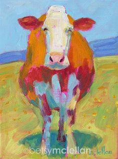 Cow Painting, inch original oil painting of a Cow, cow portrait, cow art, farm animal art Illustrations, Illustration Art, Original Paintings, Original Art, Cow Painting, Cow Art, Animal Paintings, Oil Paintings, Pet Portraits