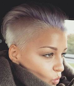 Lilac & Platinum Undercut (looking to cred) :) #BEHINDTHECHAIR