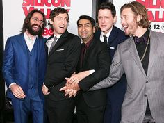 Star Tracks: Monday, April 6, 2015 | SING IT! | The men of HBO's Silicon Valley – Martin Starr, Thomas Middleditch, Kumail Nanjiani, Zach Woods and T. J. Miller – appear to be mid-song at the show's season 2 premiere in Hollywood on Thursday.