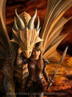 """""""Age of Dragons"""" artwork by Anne Stokes"""