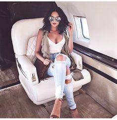 Ripped jeans fashion Natalie Halcro