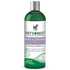 Vet's best hypo-allergenic dog shampoo for dry, sensitive skin