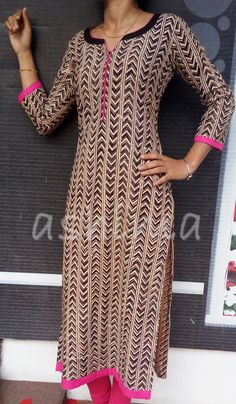 Code:3009161 - Block printed Cotton Kurti, Price INR:1190/-