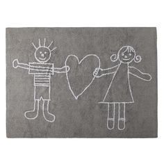 Dywan do prania w pralce dla dzieci SOLIDARIA gris/grey 120x 160 LORENA CANALS