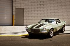 Image Detail for - Vintage Muscle Car on Street