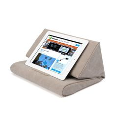 IPEVO PadPillow Pillow Stand for iPad mini, iPad Air, iPad 4, iPad 3, iPad 2, iPad 1, Nexus and Galaxy - Light Khaki