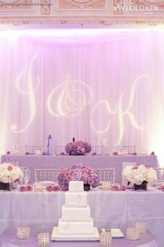 stylish lavender-wedding-sweetheart and cake table decaorations