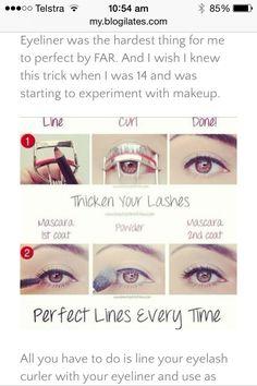 Easy Way To Apply Eyeliner! #Fashion #Beauty #Trusper #Tip