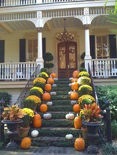 Autumn in Savannah | Kenda Williams  Would love to have a front door like this :)