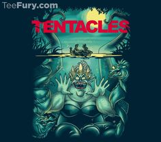 I wanted to mix a pop culture titan, which which terrified me as a child, and has scarred me for life, with my favorite animation villain, and the result is magic! @teefury