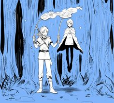 Link and Fi in the Faron woods