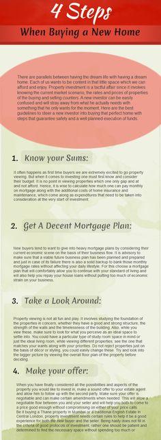 4 Steps When Buying A New Home ~ www.kristareffler.com