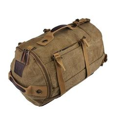 Men Dual-Use Canvas Bucket Backpack Jungle Climbing Bag Laptop Backpack is worth buying - NewChic Mobile.