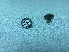 Zebra Print Glass Stud Earrings with by StarBoundWestern Animal Print Earrings, Brass Fittings, Zebra Print, Earrings Handmade, Cufflinks, My Etsy Shop, Stripes, Stud Earrings, Trending Outfits