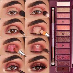 Eye Make-up - Look at another tutorial of eyes for us to train ! Eye Make-up – Olha mais um tutorial de olhos para a gente treinar! E aí gosta… Eye Make-up – Look at another tutorial of eyes for us to train ! Cute Makeup, Glam Makeup, Skin Makeup, Makeup Inspo, Eyeshadow Makeup, Makeup Inspiration, Eyeshadows, Eyeshadow Tips, Drugstore Makeup