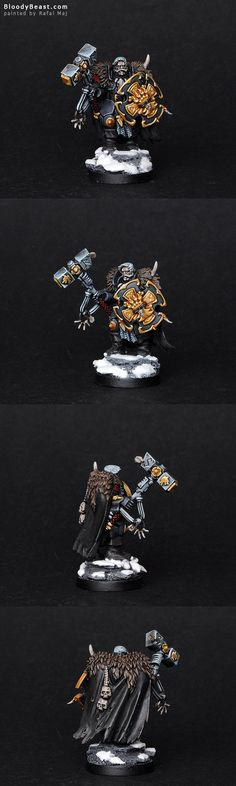 Space Wolves Lone Wolf with Hammer and Shield
