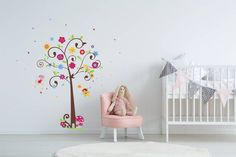 A magical fairy tree wall decal for a little girl's room. When the decal is applied to the wall in the displayed configuration, the approximate size is wide and high. Kids Wall Decals, Wall Stickers, Little Girl Rooms, Little Girls, Fairy Tree, Tree Wall, Baby Room, Wall Decor, Home Decor