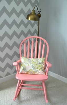 PERFECT FOR MY VINTAGE OAK ROCKER TO PUT IN MY BEDROOM!  BLUE WITH BRIGHT PINK ACCENTS!!!
