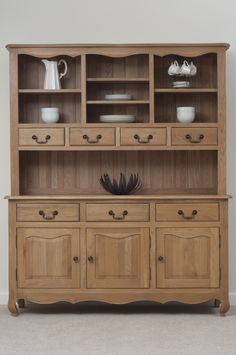 Grace Solid Oak Furniture Range Cabinet Large Welsh Dresser Land Www