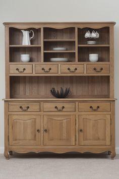 Grace Solid Oak Furniture Range Cabinet | Oak Large Welsh Dresser Oak Furniture Land www.oakfurnitureland.co.uk
