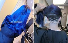 Royal Blue Hair with Barber Style Undercut