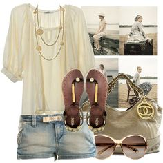 Cute summer outfit.