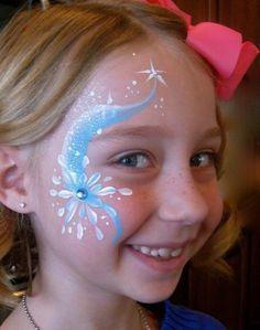 Paula Taylor's Art: Frozen Theme Face Painting