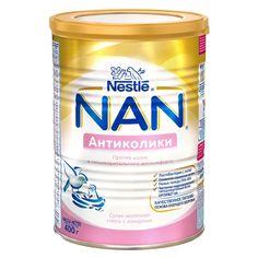 Смесь Nestle NAN молочная сухая Антиколики предотвращает появление кишечных колик у новорожденных (с рождения до 6 месяцев). Смесь содержит все необходимые питательные вещества для здорового роста и развития ребенка.
