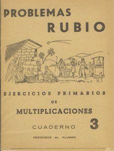 Cuadernillo de problemas matemáticos de Rubio. Ejercicios primarios de multiplicaciones