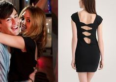 Lola (Miley Cyrus) wears this black triple bow back dress in the movie LOL. It is the Forever 21 Triple Bow Back Dress. Buy it HERE