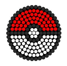 Poke Ball Perler Bead Pattern