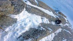 Goulotte des Allemands Triangle du Tacul Chamonix. Mont-Blanc. Mountaineering