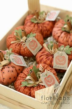 DIY cloth pumpkins