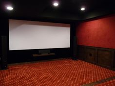 Big screen in a small room.